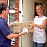 UK, Guaranteed next-day home parcel delivery service